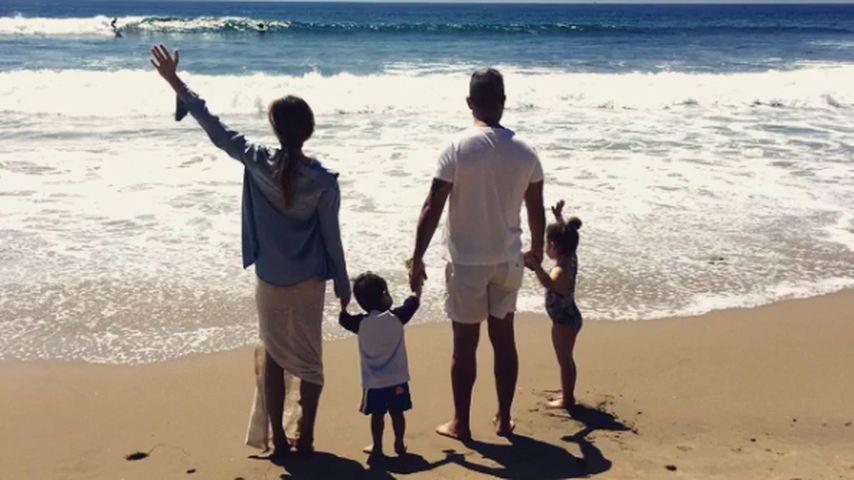 Ayda Field, Robbie Williams und die beiden Kinder Charlton und Theodora