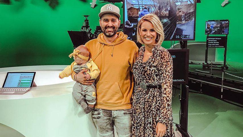 Baby Leni, Papa Kristof und Mama Sandra Kuhn