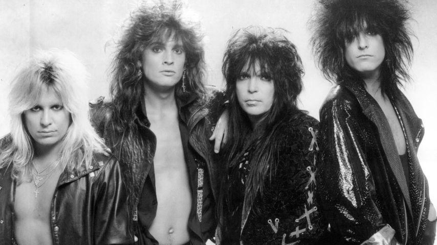 Mötley Crüe bestehend aus Vince Neil, Tommy Lee, Mick Mars, Nikki Sixx