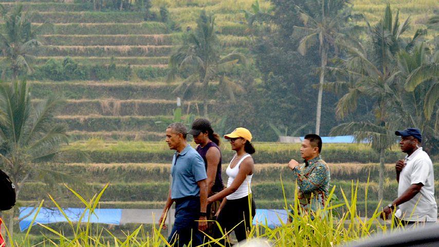 Barack Obama mit seiner Entourage auf Bali