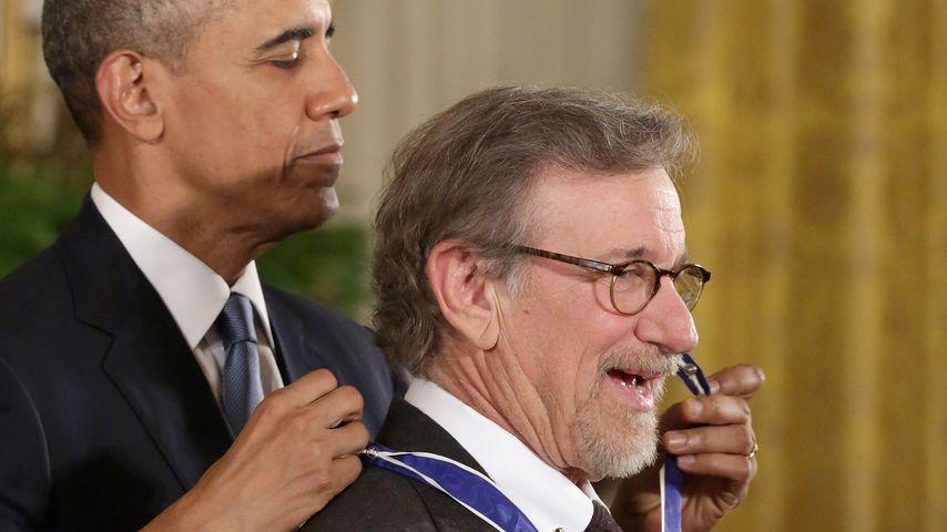 Barack Obama und Steven Spielberg bei der Verleihung der Freiheitsmedaille