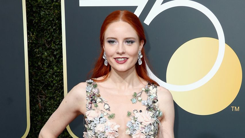 Model Barbara Meier bei den Golden Globes 2018