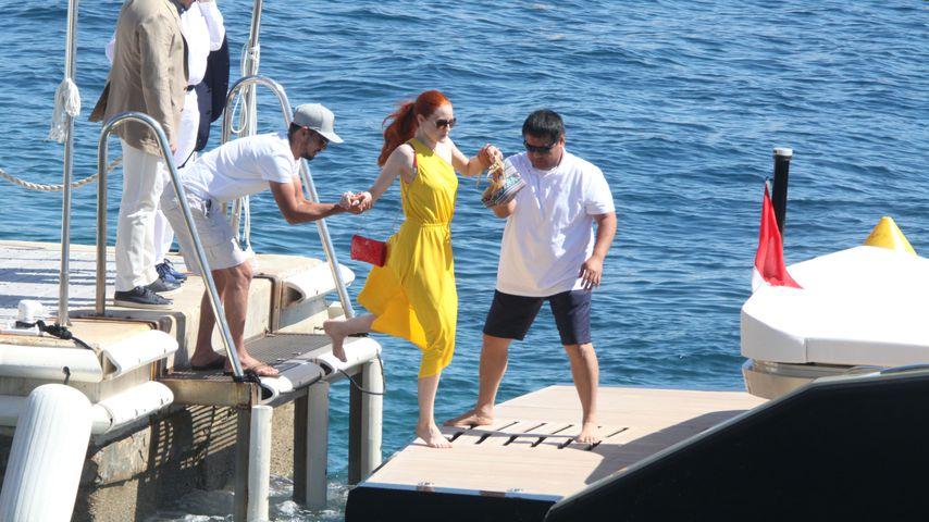Barbara Meier und Klemens Hallmann in Cannes
