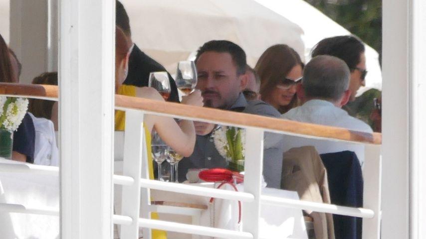 Barbara Meier und Klemens Hallmann im Eden Roc Restaurant in Cannes