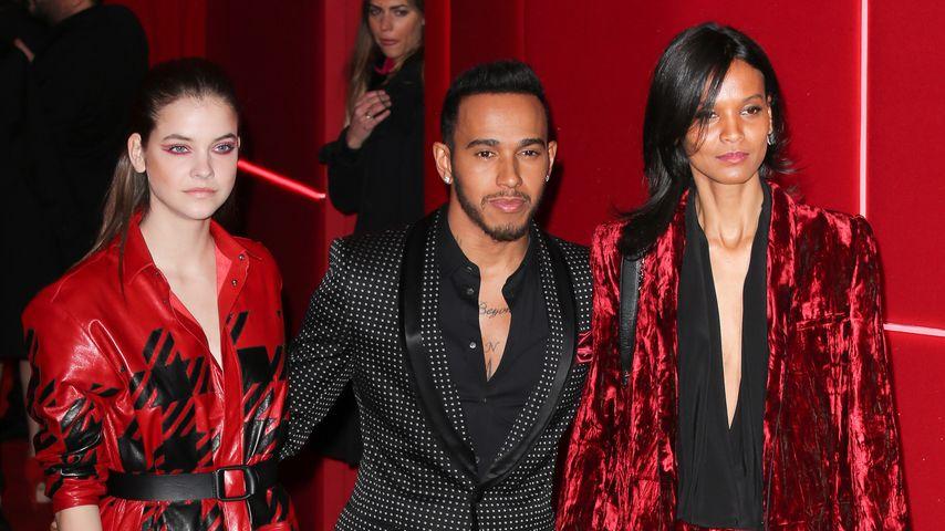 Barbara Palvin, Lewis Hamilton, Liya Kebede bei der Paris Fashion Week 2016