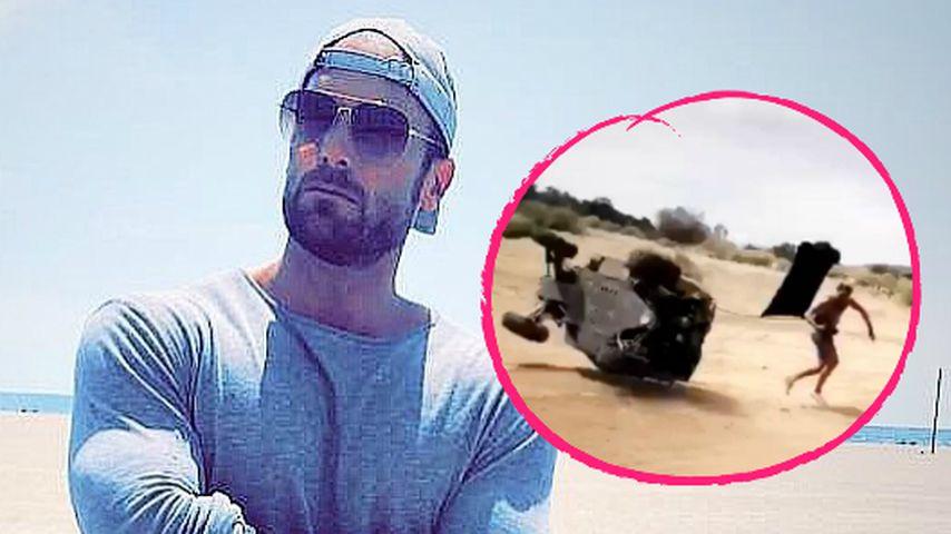 Fahrzeug überschlagen: Bastian Yotta hatte einen Unfall!