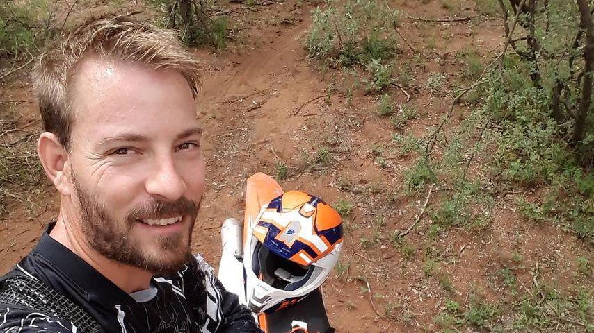 Bauer Gerald mit seinem Motorrad
