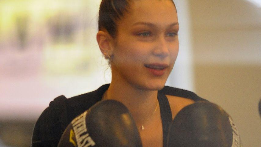 Im Box-Ring: Bella Hadid ist ein schlagkräftiger VS-Neuling