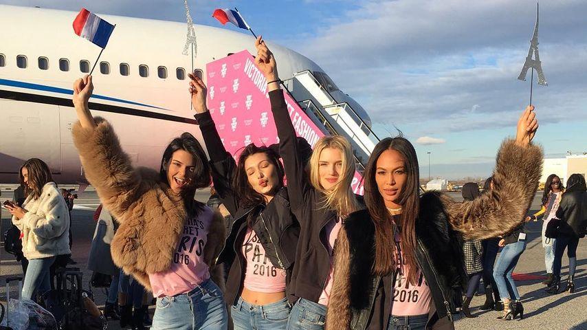 Victoria's Secret Models Kendall Jenner, Bella Hadid, Lily Donaldson und Joan Smalls