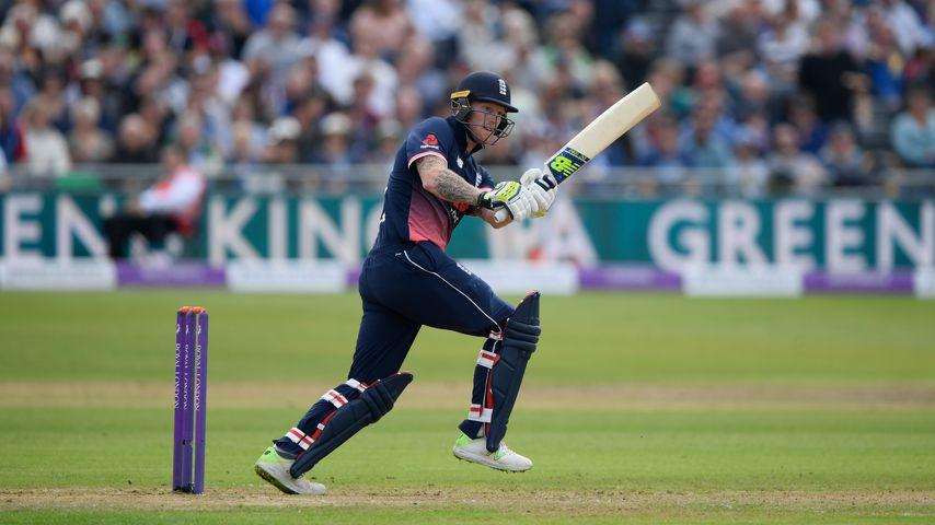 Ben Stokes während eines Cricketspiels in Bristol
