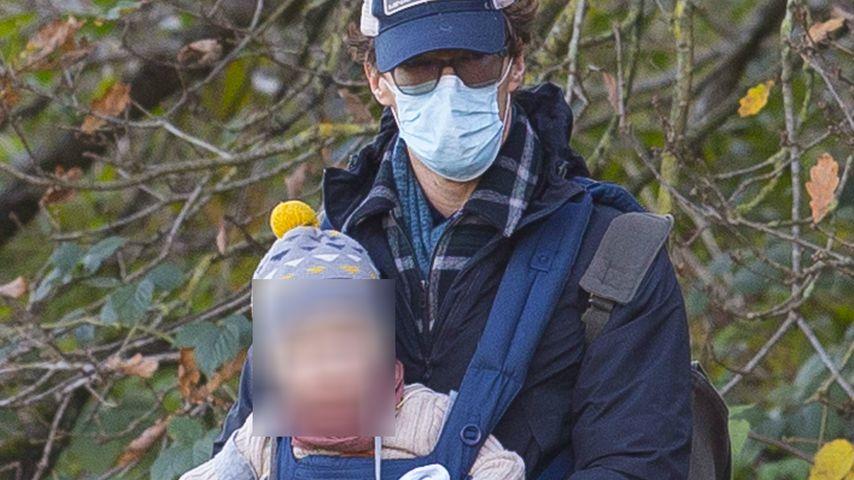 Benedict Cumberbatch und sein Sohn im Dezember 2020