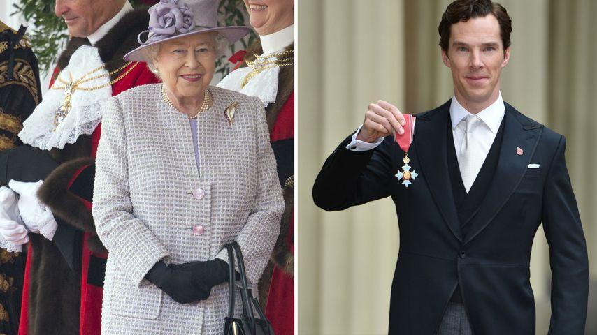 Einzigartig! Queen Elizabeth II. ehrt Benedict Cumberbatch