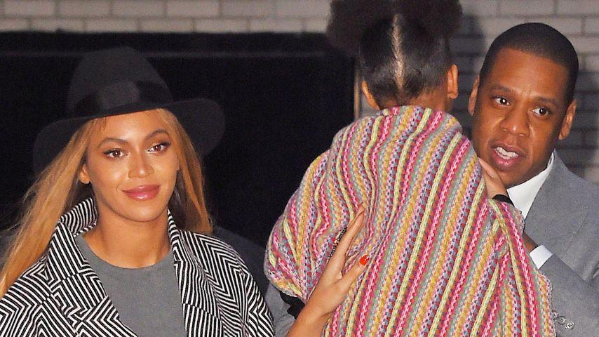 Beyoncé, Blue & Jay-Z: Durchgestylt zur Premiere