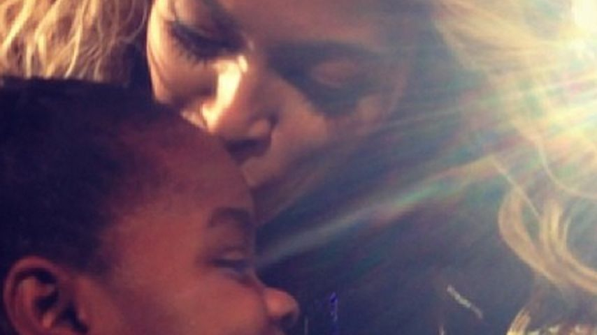 Beyoncé hautnah: Küsschen für Madonnas Tochter
