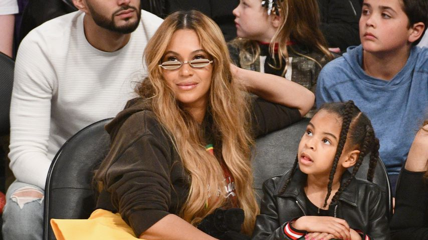 Beyoncé und Blue Ivy beim NBA All-Star Game