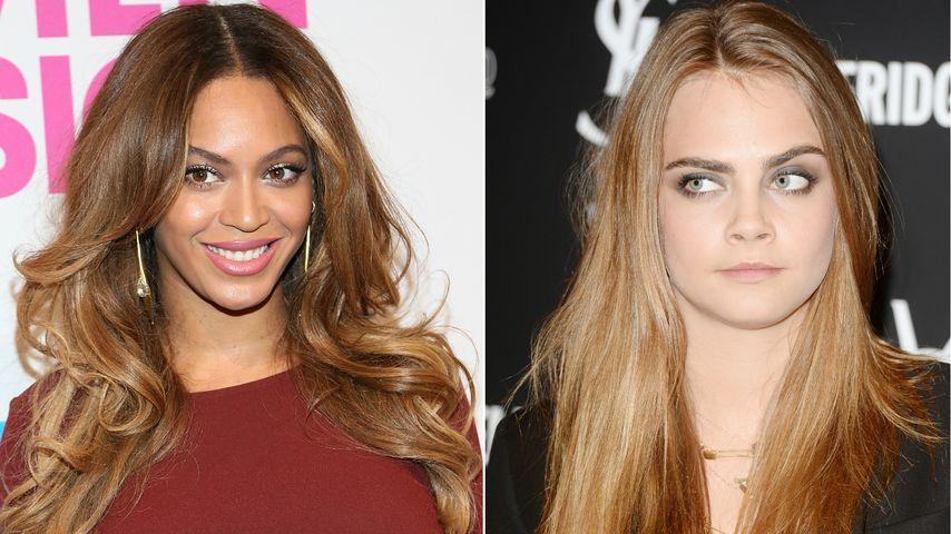 Singende Sensation? Beyoncé & Cara im Tonstudio