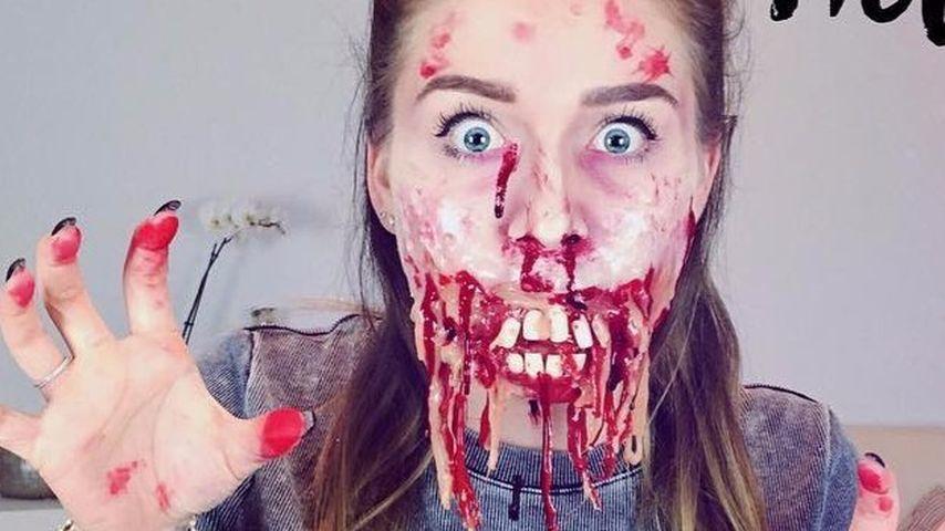 Bibi Heinicke bei einem Halloween-Tutorial auf YouTube