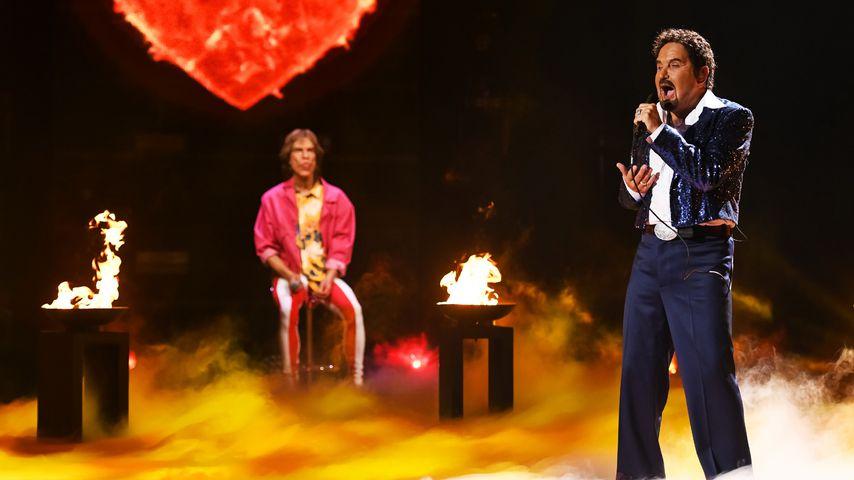 """Big Performance""-Stars Mick Jagger und Tom Jones"