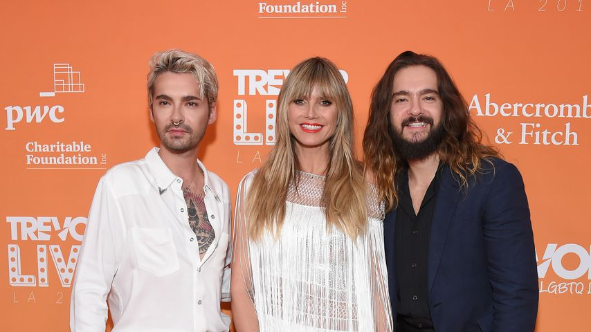 Bill Kaulitz, Heidi Klum und Tom Kaulitz im November 2019