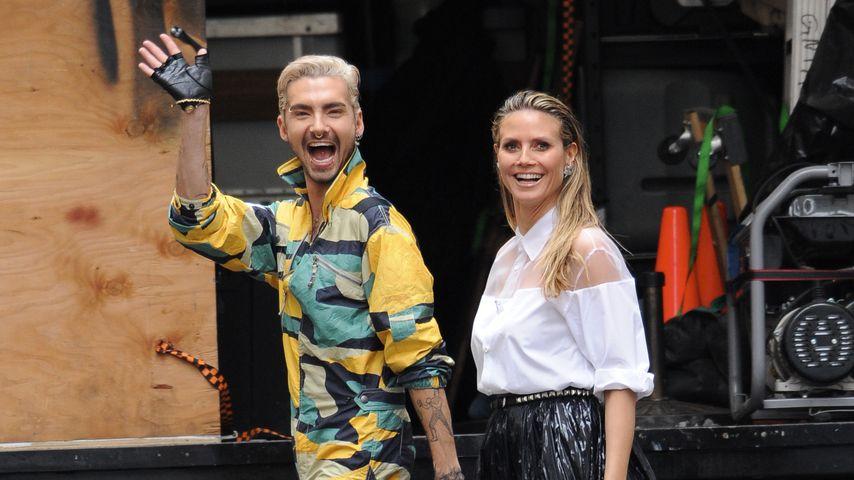 Im Partner-Look: Bill Kaulitz & Heidi Klum mit hohen