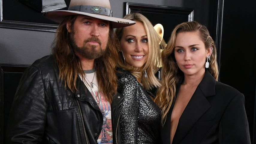 Billy Ray, Tish und Miley Cyrus bei den Grammy Awards 2019