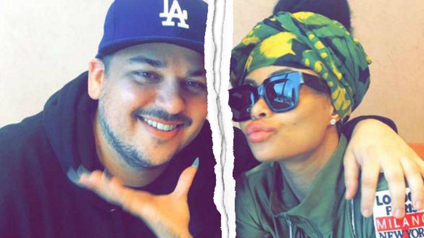 Fotos gelöscht: Trennung bei Rob Kardashian & Blac Chyna?