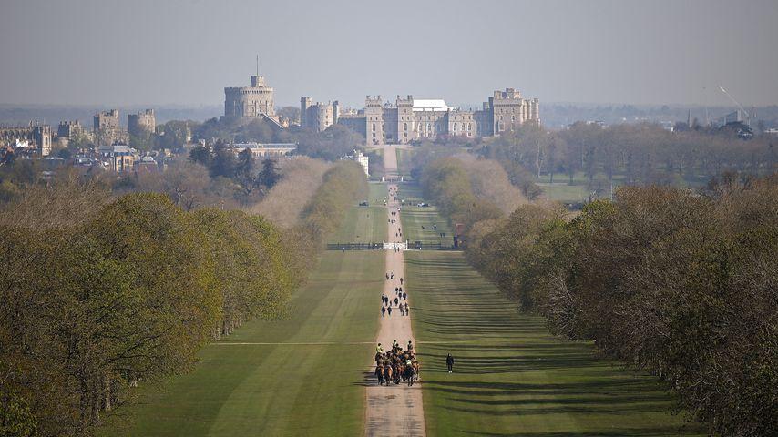 Blick auf Windsor Castle im Windsor Great Park