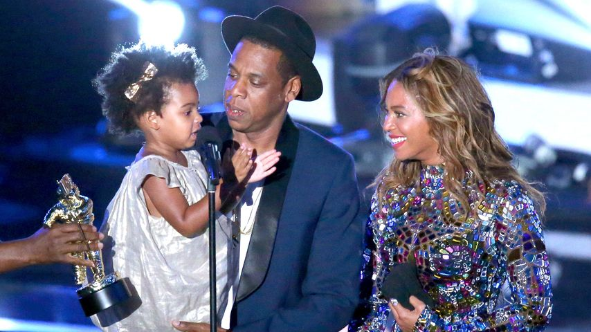 Blue Ivy Carter, Jay-Z und Beyoncé Knowles bei den MTV Video Music Awards 2014