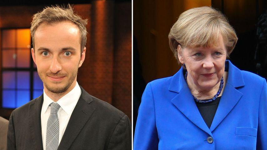 Jan Böhmermann und Angela Merkel