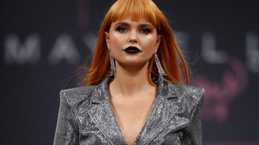 Model Bonnie Strange während der Berliner Fashion Week Januar 2019