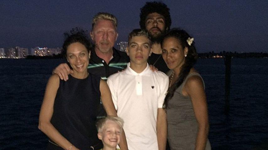 Lilly Becker, Boris Becker, Barbara Becker, Noah Becker und Elias Becker