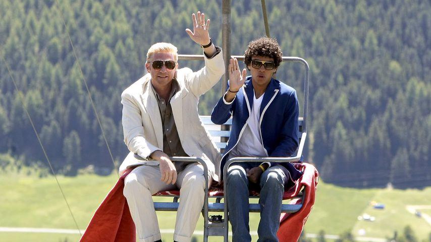 Boris und Noah Becker in St. Moritz