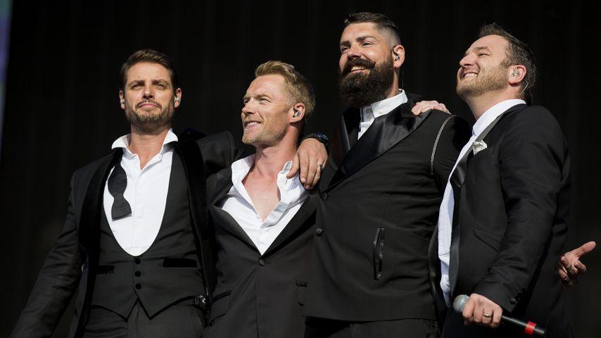 Boyzone während eines Auftritts in London