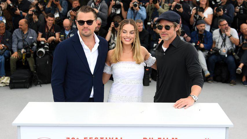 Brad Pitt, Leonardo DiCaprio und Margot Robbie bei den Filmfestspielen in Cannes