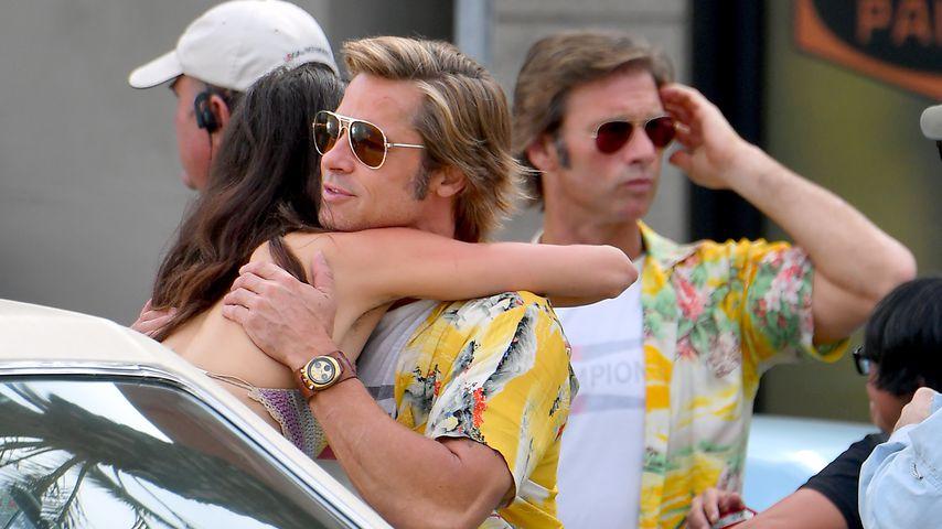 Am Set von Tarantino-Film: Wer ist hier der echte Brad Pitt?
