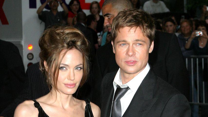 Brad Pitt und Angelina Jolie in New York City im Jahr 2007