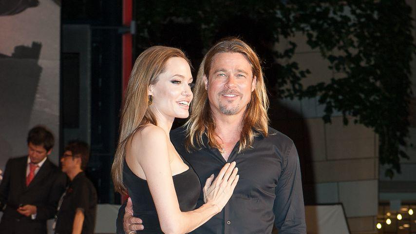 Brad Pitt und Angelina Jolie in Tokio im Jahr 2013
