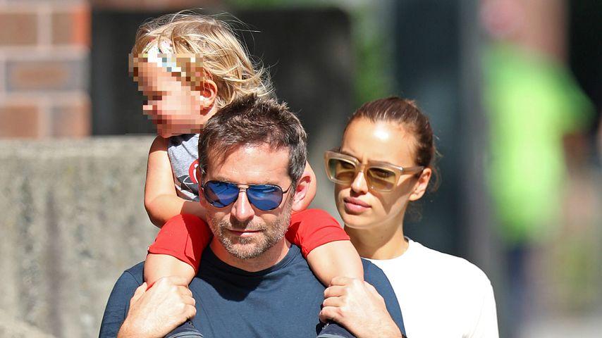 Bradley Cooper, Tochter Lea und Irina Shayk in New York 2018