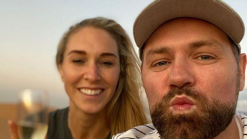 Brian McFadden und seine Verlobte Danielle, November 2019