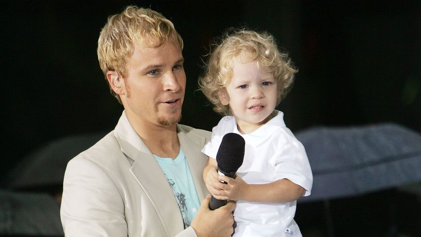 Brian und Sohn Baylee im Jahr 2005