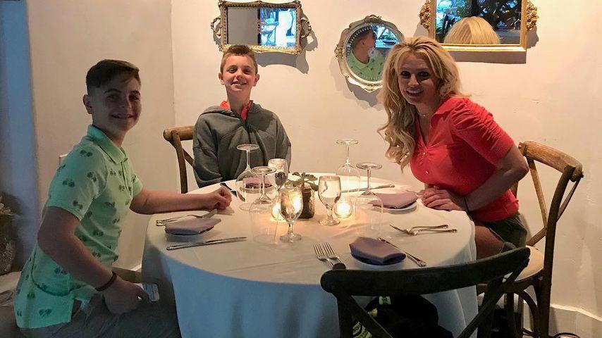 Britney Spears mit ihren Söhnen Sean Preston und Jayden