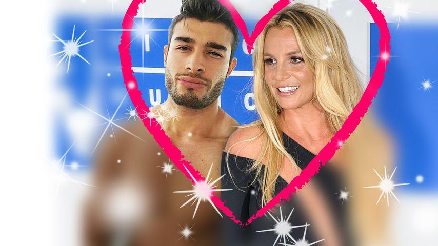 Britney Spears und ihr Boyfriend – Collage