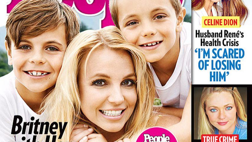 Mit Kids: Britney Spears strahlt vom People-Cover