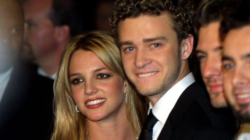 Britney Spears und Justin Timberlake im Februar 2002
