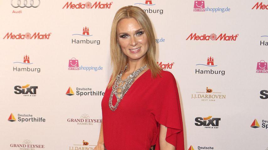 Britta Hofmann bei der Verleihung des Sportjournalistenpreises 2015 in Hamburg
