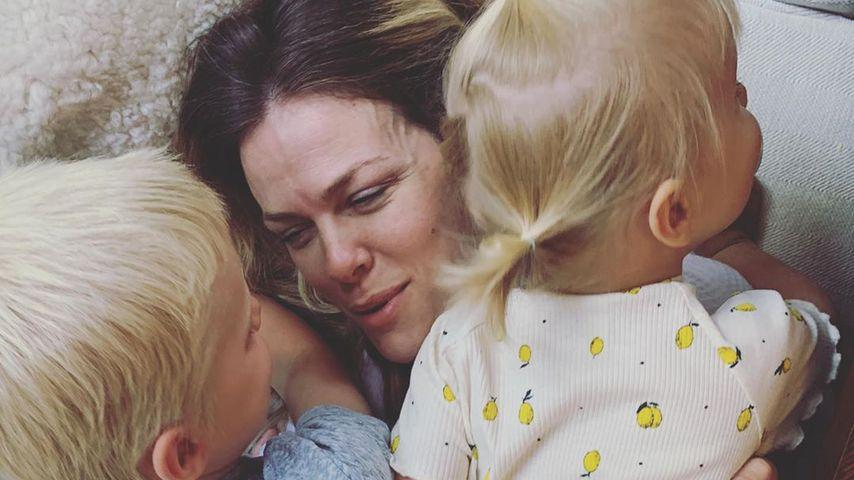 Brooklyn Decker mit ihren beiden Kindern