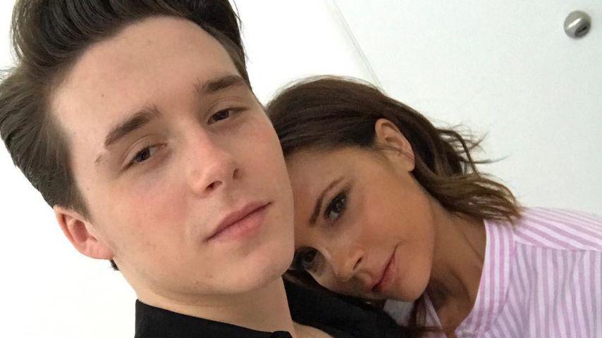 """Ich liebe dich"": Victoria Beckham knuddelt Sohn Brooklyn"