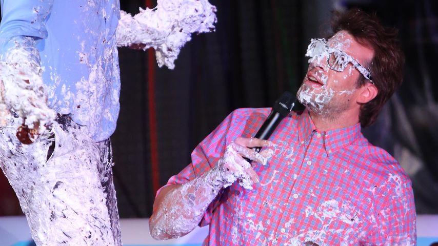 """Bruce Darnell und Daniel Hartwich bei einer witzigen Aktion für """"Das Supertalent"""""""