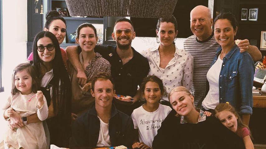 Bruce Willis, Emma Heming Willis, Demi Moore und ihre Patchwork-Familie, Februar 2020