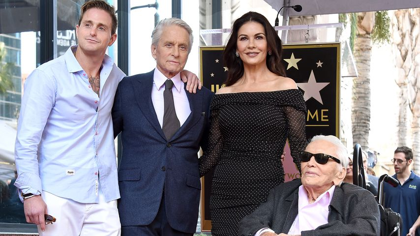 Cameron Douglas, Michael Douglas, Catherine Zeta-Jones und Kirk Douglas, November 2018